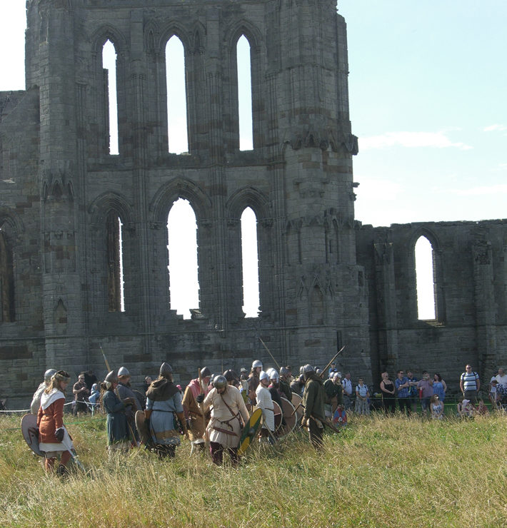 vikings in whitby event review abbey