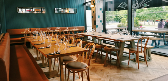 wellbourne brasserie white city restaurant review interior