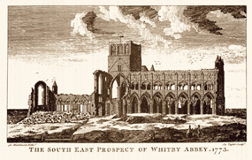 whitby abbey through time history north yorkshire old