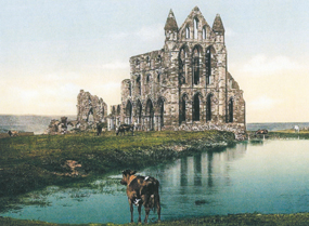 whitby abbey through time history north yorkshire postcard