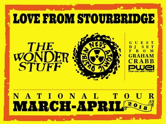 wonder stuff ned's atomic dustbin live review leeds o2 academy april 2018 poster