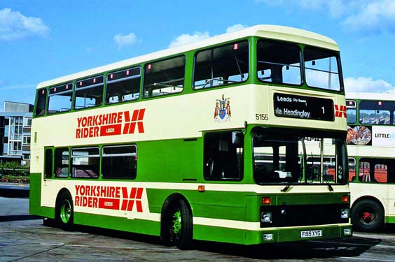 yorkshire rider buses history 5155, c.1998