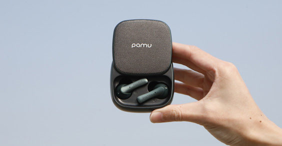 PaMu Slide Wireless Bluetooth Earbuds from Padmate hand